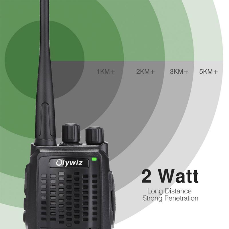 Olywiz HTD825 Long Range Walkie Talkie 2W Handheld GMRS Two Way Radio 16-Channel 4 Pack